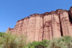 Talampaya czerwieni skała Fotografia Stock