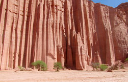 Talampaya czerwona geoligical formacja fotografia stock
