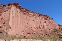 Talampaya red Canyon wall Royalty Free Stock Photo