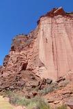 Talampaya red canyon wall Stock Photo