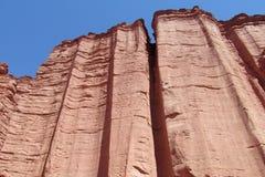 Talampaya red Canyon walls Stock Photos
