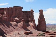 Talampaya rock formation Stock Photos