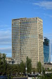 TALAN TOWERS in Astana Stock Photo