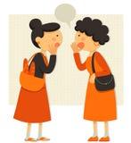Talande damer Arkivbild