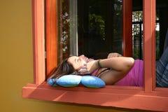 talande fönster Royaltyfria Bilder