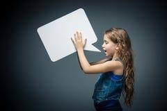 Talande flicka Arkivbilder
