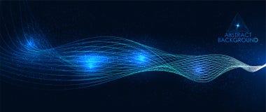 Talande illustration för solid våg vektor illustrationer