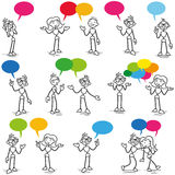 Talande kommunikation för Stickman konversation vektor illustrationer