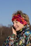 talande kvinna Fotografering för Bildbyråer