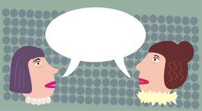Talande kvinnor. Royaltyfri Fotografi