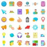 Talande symboler uppsättning, tecknad filmstil för telefon royaltyfri illustrationer