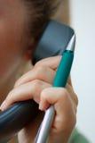 talande telefon för affär royaltyfri foto