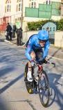 骑自行车者Talansky安德鲁巴黎尼斯2013年序幕在Houille 图库摄影