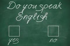 Talar du engelska royaltyfri bild