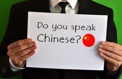 Talar du kines royaltyfri bild