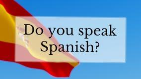 Talar du spanjor stock video