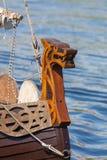 Talarstol av det Viking skeppet Arkivfoto