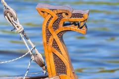 Talarstol av det Viking skeppet Royaltyfri Fotografi
