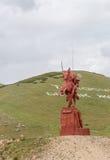 Talas de vallée, Kirghizistan - 15 août 2016 : Monument à Manas photos libres de droits