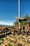 Talasnal village built of shale stone stock image