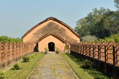 The Talatal Ghar, Sivasagar, Assam India. The Talatal Ghar the grandest examples of Tai Ahom architecture located close the Sivasagar Town, Assam India stock photos