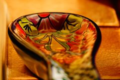 Talavera dpoon holder blurry Stock Photography