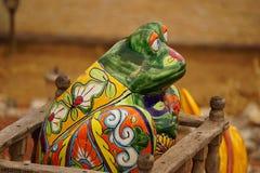 Talavera frog Stock Photo