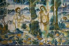 Talavera garncarstwo, płytki Bazylika Del Prado, Talavera De La Reina Zdjęcie Stock