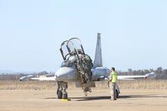 Talavera losu angeles real, Extremadura, militarna baza lotniczy wojsko obrazy royalty free