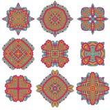 Talavera modell Azulejos Portugal Turkisk prydnad Marockansk tegelplattamosaik Keramisk bordsservis, folktryck stock illustrationer