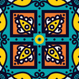 Talavera рoblana Mexican seamless pattern Royalty Free Stock Image