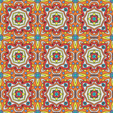 Talavera oblana Mexican seamless pattern Stock Image