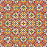 Talavera oblana Mexican seamless pattern Royalty Free Stock Photo