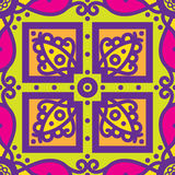 Talavera oblana Mexican seamless pattern Royalty Free Stock Image