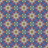Talavera oblana Mexican seamless pattern Royalty Free Stock Photos