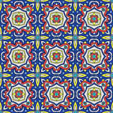 Talavera oblana Mexican seamless pattern Stock Images