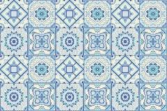 Talavera pattern. Indian patchwork. Azulejos portugal. Turkish ornament. Moroccan tile mosaic. Ceramic tableware, folk print. Spanish pottery. Ethnic stock illustration