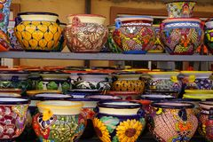 Talavera pots Royalty Free Stock Images