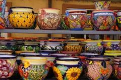 Talavera pots Royalty Free Stock Images