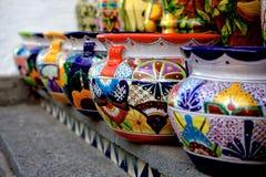 Talavera potten Stock Afbeeldingen