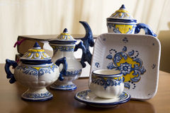 Talavera pottery and book Stock Photography