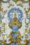Talavera pottery, tiles Virgen del Prado Royalty Free Stock Images
