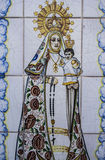 Talavera pottery, tiles, Virgin Mary with baby Jesus Royalty Free Stock Photography