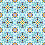 Talavera tile. Vibrant Mexican seamless pattern, Royalty Free Stock Photography