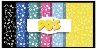 90-talbakgrunder eller baner Arkivfoto