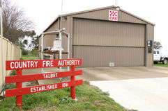 Talbot CFA提供消防和其他紧急情况服务 免版税图库摄影