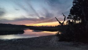 Talbot Island Sunset pequeno Fotos de Stock