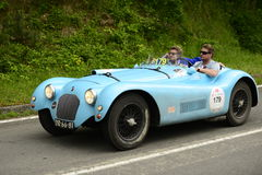 Talbot Lago Spider running in Mille Miglia race Royalty Free Stock Photo