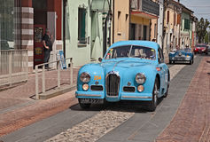 Talbot Lago T26 GS Berlinette 1950 in Mille Miglia 2017 Royalty Free Stock Images