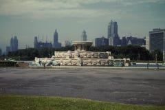 50-talBuckingham springbrunn, Chicago, IL Royaltyfri Bild